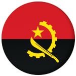 Angola Country Flag 58mm Mirror